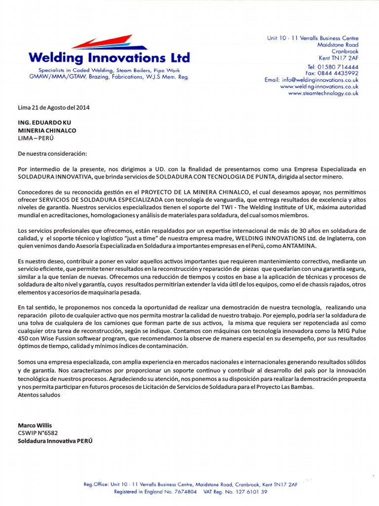 Atractivo Soldador Reanudar Carta De Presentación Adorno - Ejemplo ...
