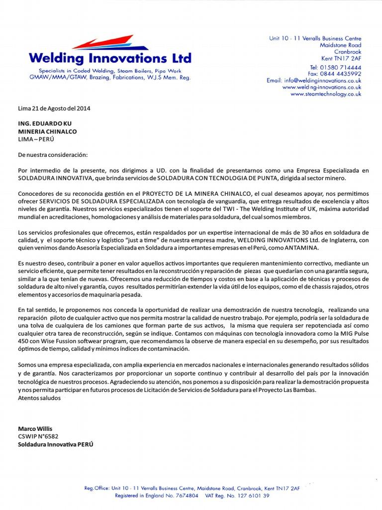 Excepcional Carta De Presentación Del Trabajo Uk Embellecimiento ...