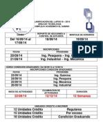 Planificación Del Lapso III-2014 El Sabino