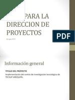 Plan Para La Direccion de Proyectos