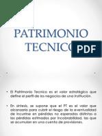 PATRIMONIO TECNICO