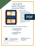 school insurance form 2014-15