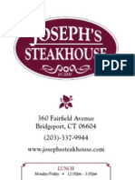 Joseph's Steakhouse - Food Menu