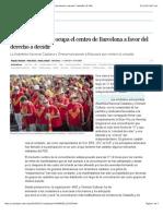 una gran multitud ocupa el centro de barcelona a favor del derecho a decidir  catalua  el pas