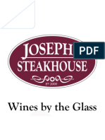 Joseph's Steakhouse - Wine Menu
