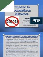 Proyectos de Prevención en Adicciones FINAL