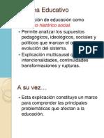 Sistema Educativo Clase 1