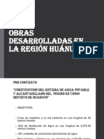 Obras Desarrolladas en La Región Huánuco