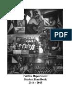Politics Student Handbook 0910