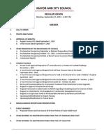 September 15 2014 Complete Agenda