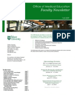 Faculty Newsletter Fall 2009