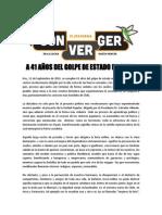 Declaración Plataforma CONVERGER 11 de Septiembre