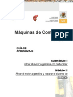 Manual Combustion Interna Afinacion Motor Gasolina Carburador