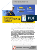 Motion Computing R12 on the job, powered by Intel