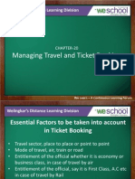 Manging Travel and TICKETING