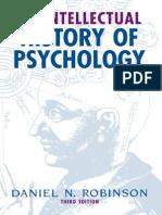 Daniel N. Robinson an Intellectual History of Psychology, 3rd Edition 1995