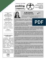 Ethically Speaking Newsletter September 2014