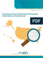 Data Sources Used for Monitoring and Evaluating Health Reform at the State Level