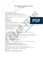 Technical Writing Exam Form - GearTeam