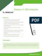TL-WN821N V4 Datasheet