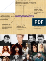 Research Into Singer-Songwriter Genre