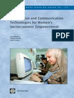 Information and Communication Technologies for Women's Socio-Economic Empowerment: