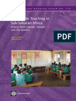 Multigrade Teaching in Sub-Saharan Africa