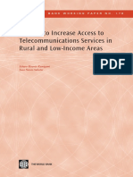Options to Increase Access to Telecommunications Services in Rural and Low-Income Areas: