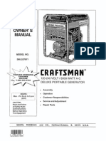 Craftsman 8000 Watt Deluxe AC Generator