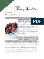 Natural Anti Oxidants