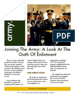 Joining the Army - A Look at the Oath of Enlistment