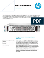 HP ProLiant DL560 Gen8 - Data Sheet