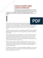 En Chile No Hay Ni Puede Haber Espacio Para La Violencia