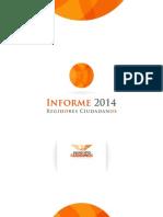 Informe 2014 Regidores Ciudadanos