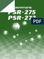 Yamaha Keyboard PSR-275 Handbook