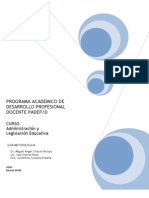 Administracion y Legislacion Educativa