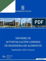 Informe de Acreditacion Alimentos 2013
