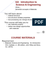 MAE 332 Introduction to Materials and Engineering Science
