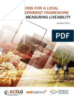 Options For A Local Government Framework For Measuring Liveability 2012