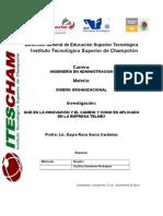 Que Es La Innovación y El Cambio y Como Es Aplicado en La Empresa Telmex