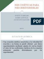 2.1 Formulación de Las Ecuaciones Cinéticas Para Reacciones Irreversibles (2.1.1-2.1.2 Primer y Segundo Orden)