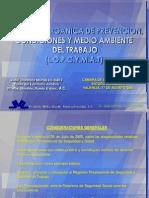 Taller Ley Organica de Prevencion Condiciones y Medio Ambiente de Trabajo Presentacion 1