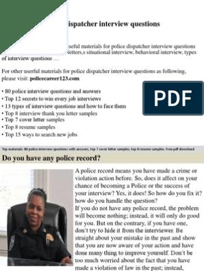 Police Dispatcher Interview Questions | Job Interview