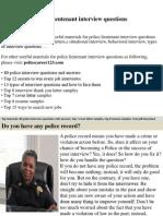 Police Lieutenant Interview Questions  911 Dispatcher Interview Questions