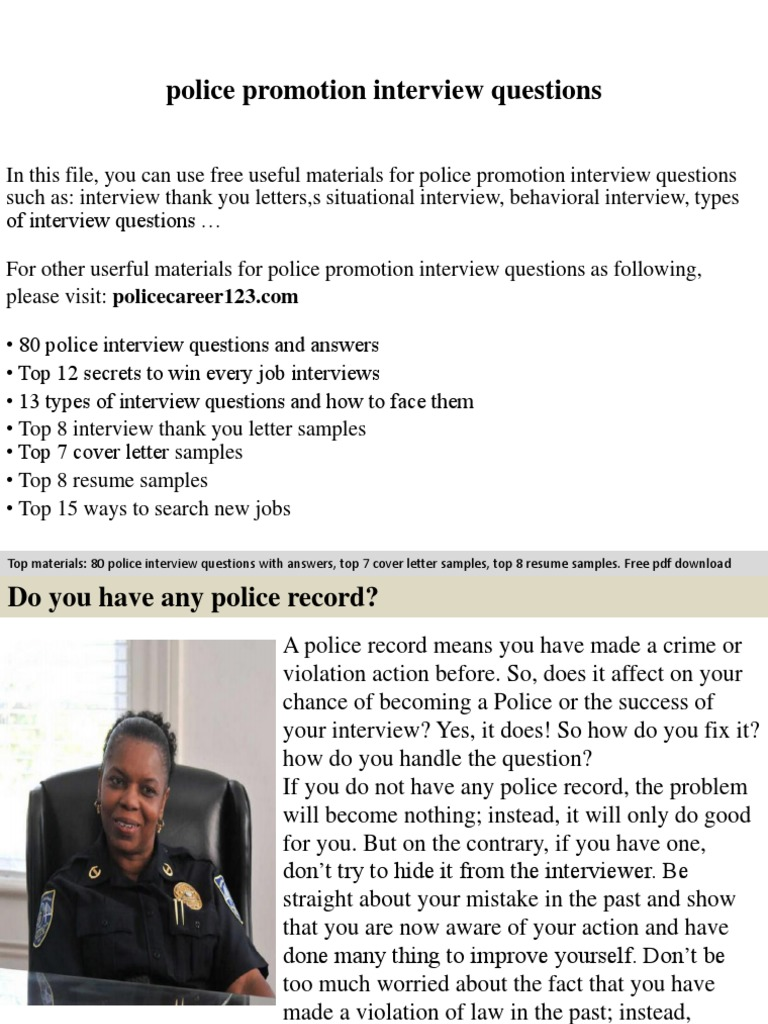 police promotion interview questions job interview interview
