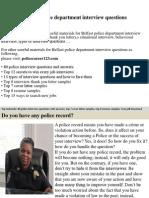 Belfast Police Department Interview Questions