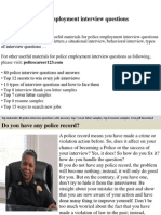 Police Employment Interview Questions