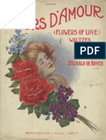 Fleurs D'Amour (Flowers of Love) Waltzes for Piano