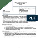INBS 310-001 - Sexton - Syllabus - Fall 2014(1)