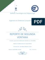 Reporte 03 - Segunda Ventana